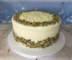 Pistachio and rose water cake