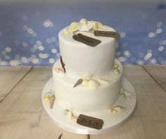 Two tiered shell cake