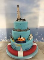 Tiered Scilly cake